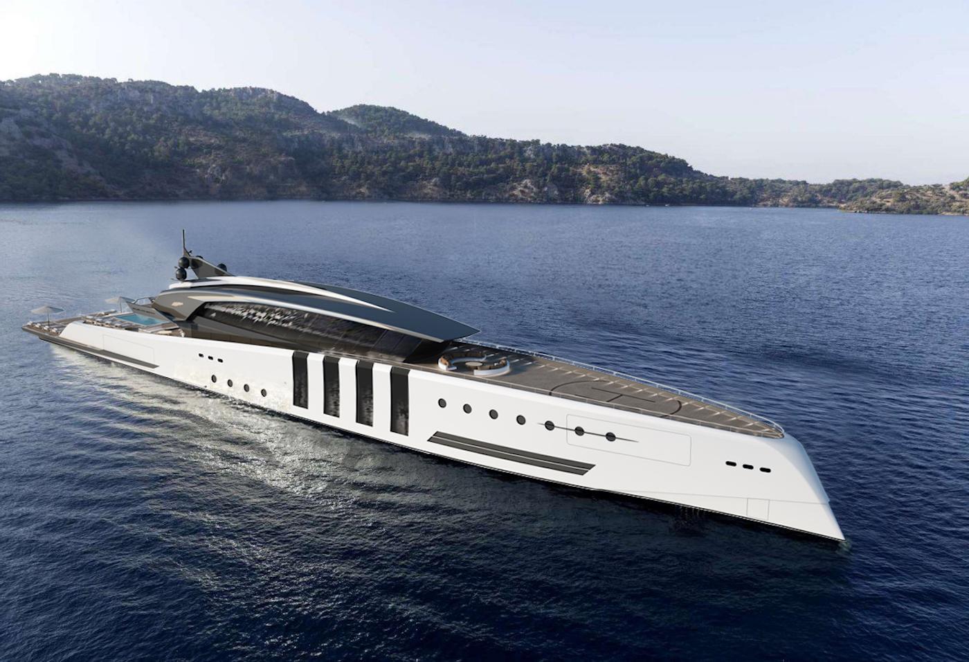 Eleuthera mega yacht © Azcarate Design