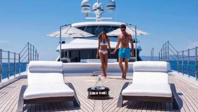 Enjoying the vacation aboard superyacht 11.11