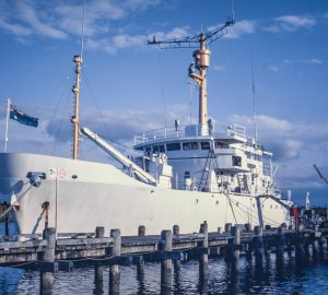 In pictures: HMAS Flinders - The past life of superyacht Plan B