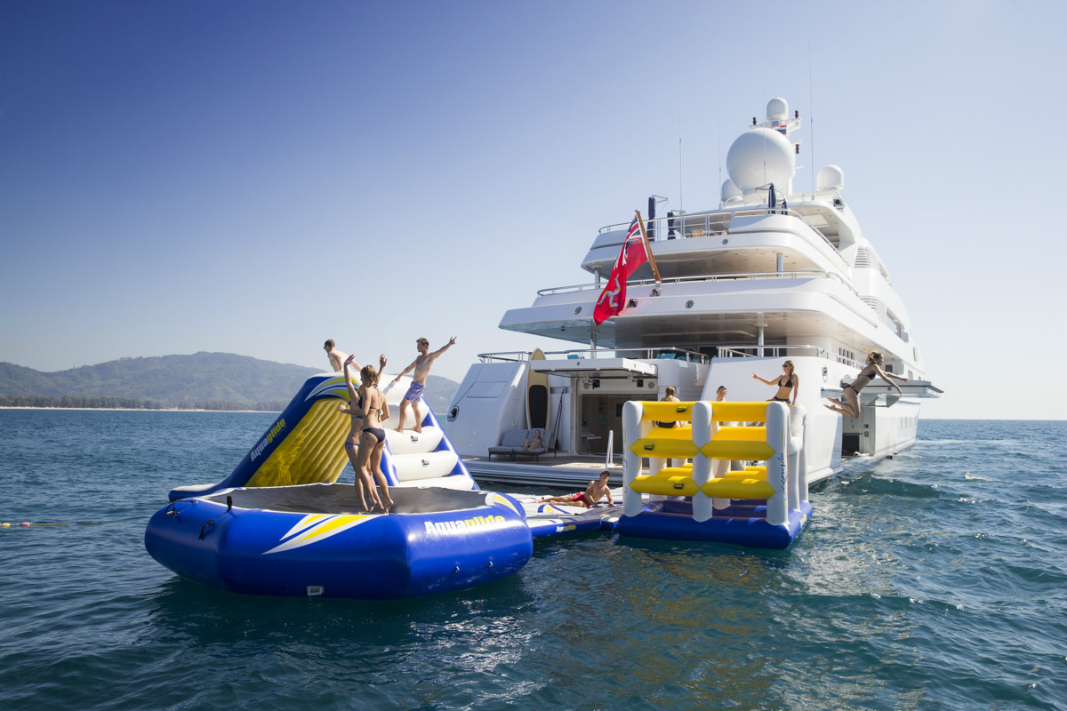 Holiday fun with charter yacht TITANIA by Lurssen