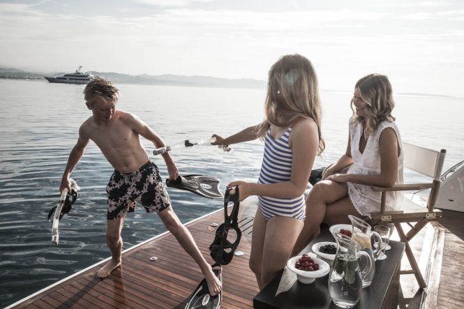 Luxury lifestyle - Family yacht charter with motor yacht CRISTOBAL