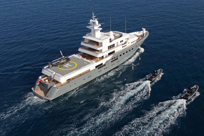Luxury mega yacht PLANET NINE
