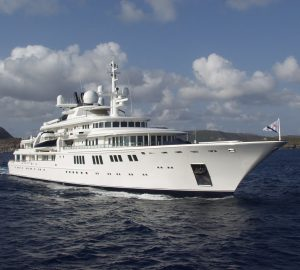 92m mega yacht TATOOSH still available for Christmas and New Year's Charter in the Caribs