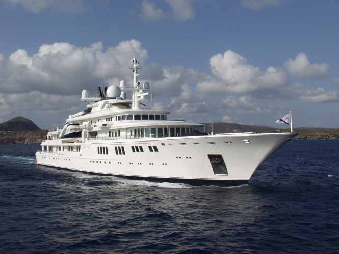 Luxury mega yacht TATOOSH