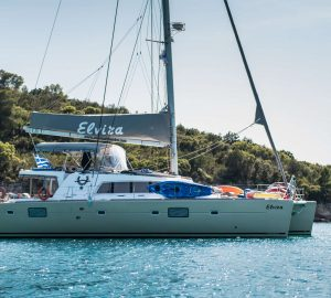 Lagoon catamaran ELVIRA offering 2019 yacht charter special in Greece
