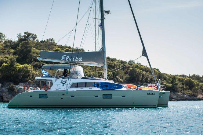 Luxury sailing catamaran yacht ELVIRA