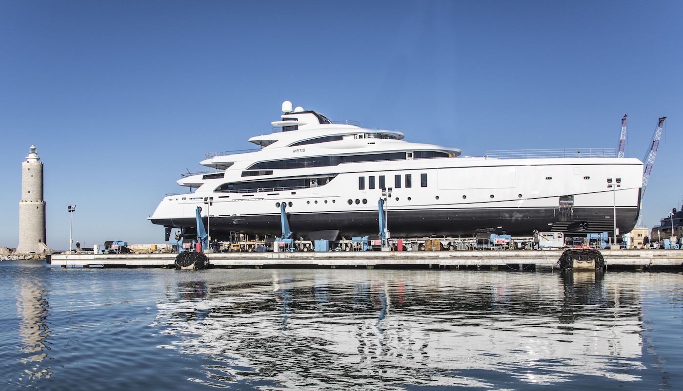 Luxury yacht METIS launched by the Benetti shipyard in Italy