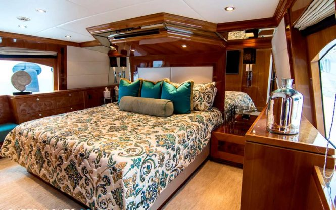 Master suite with large windows