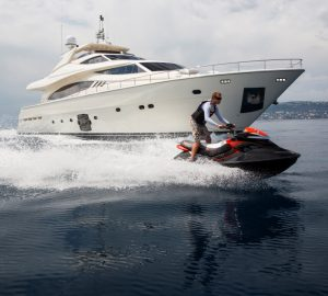 Secure your West Med charter vacation at special price with 27m motor yacht PORTHOS SANS ABRI