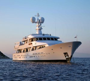 45m ANCALLIA offering reduced rates for Greece yacht charter vacations
