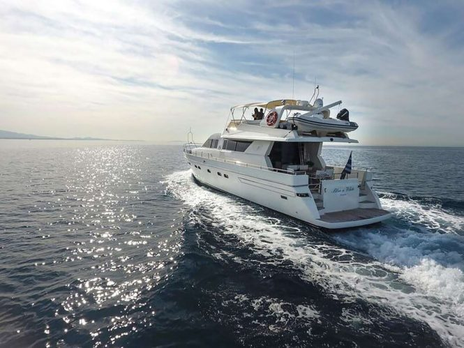 Motor yacht BLUE N WHITE available for charter in Greece
