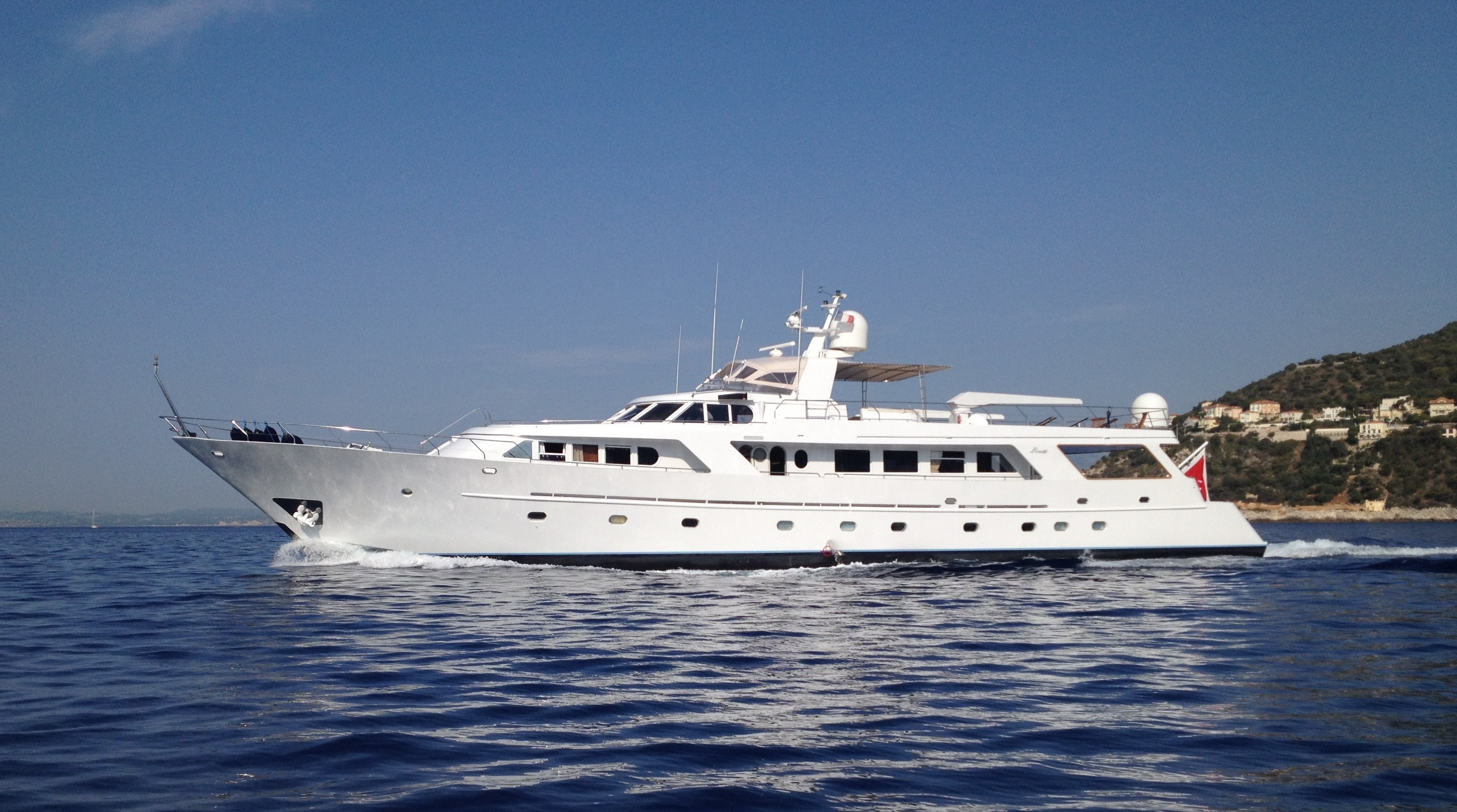 Motor yacht INDIA cruising the Mediterranean