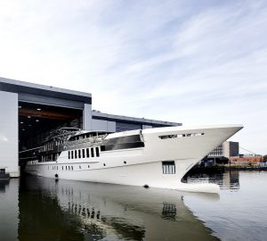 Heesen joins hull and superstructure of luxury yacht Project Castor