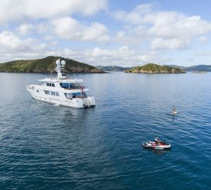 34m charter yacht RELENTLESS now available in New Zealand and South Pacific