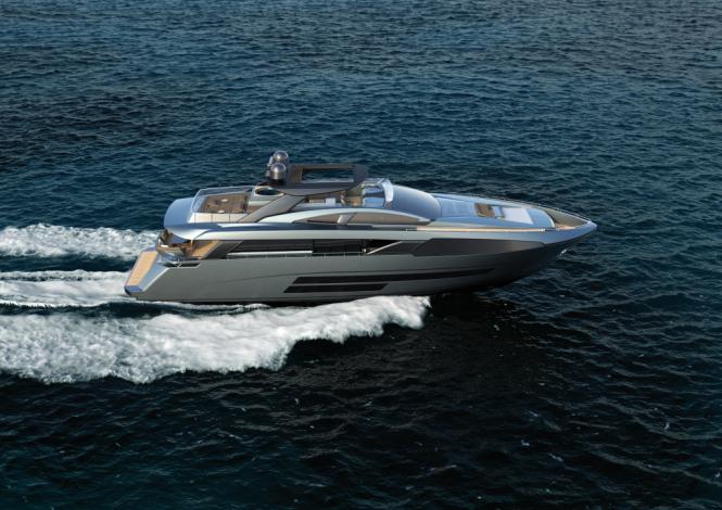 Running profile of Bugari F86 yacht