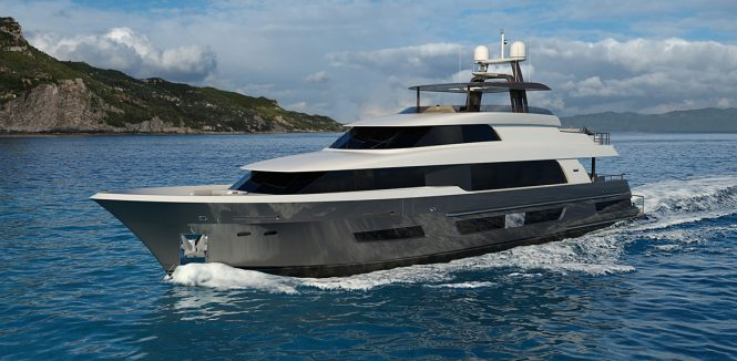 Running profile of Crescent 110 yacht