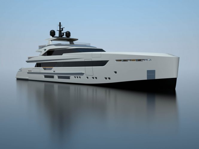 S501 yacht rendering - sistership to hull 3 and 4