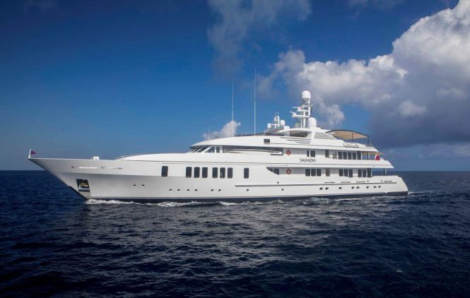SAMADHI a beautiful luxury superyacht with great deck areas