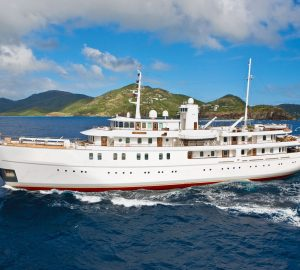 70m SHERAKHAN offering reduced Caribbean charter rate and no delivery fees