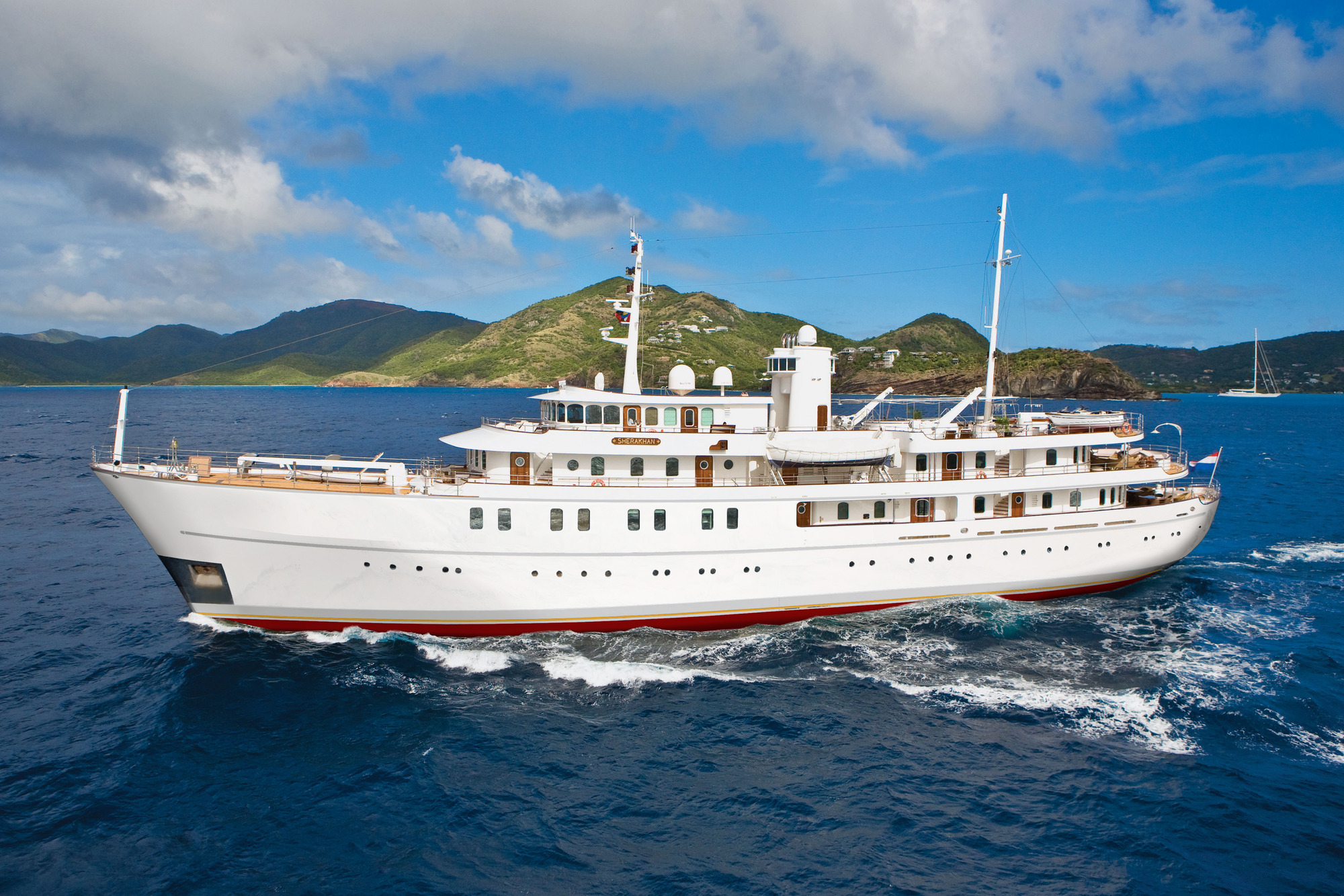 SHERAKHAN motor yacht offering charters for large groups