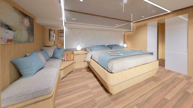 Master cabin - © Silent Yachts