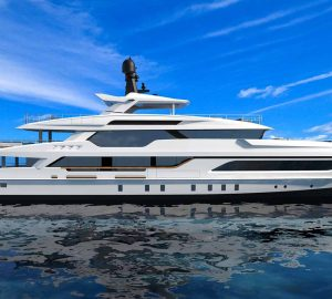 Baglietto announces hull turning for 40-metre fast displacement yacht HULL 10232