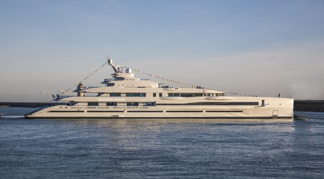 Benetti FB277 giga yacht launched