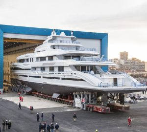 Benetti prepares to launch flagship 107-metre mega yacht FB 277