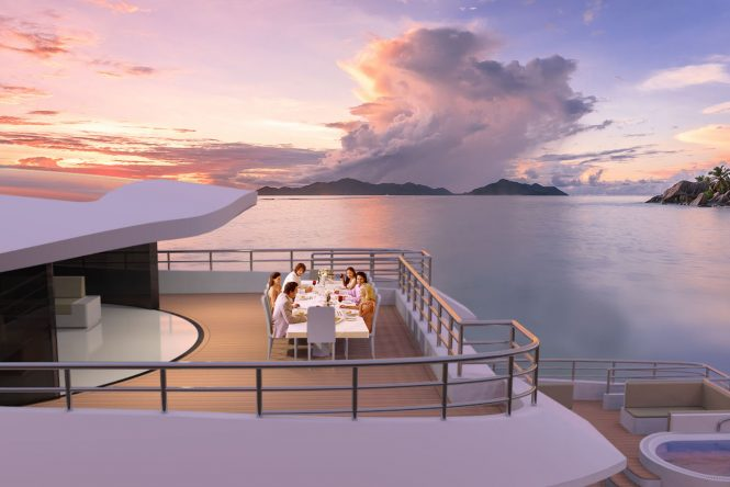 Dinner in the Seychelles
