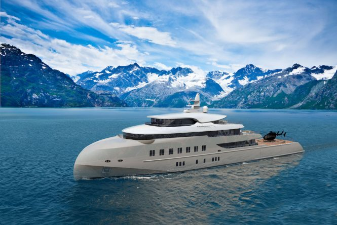 Expedition yacht concept HAWK RANGER 68M underway