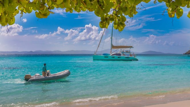 Good Vibrations catamaran in the Caribbean