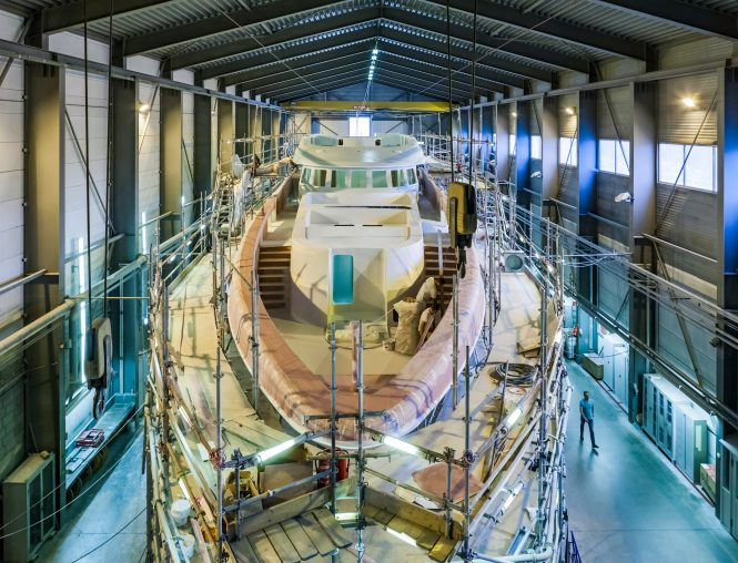 Heesen 18750 Project Aster superyacht in September 2018 - Photo © Simon Trel
