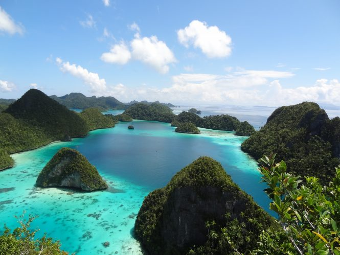 Indonesia Stunning aerial view of Raja Ampat - courtesy of Asia Pacific Superyachts