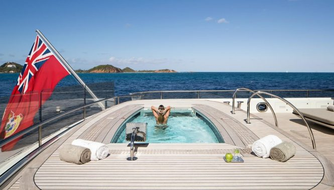Large Jacuzzi Pool on board