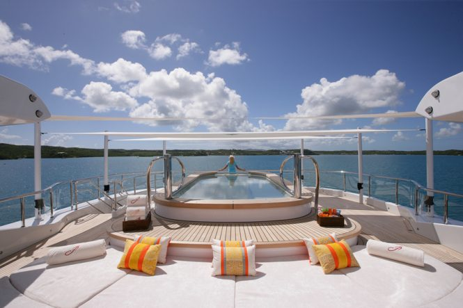 Luxury Jacuzzi pool on board