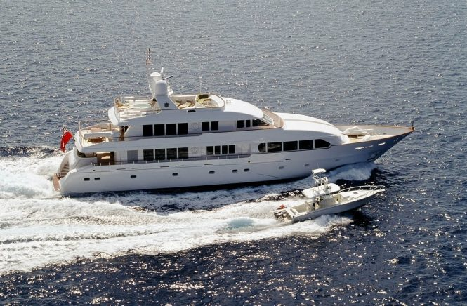 Luxury motor yacht M4 available for charter in the Bahamas