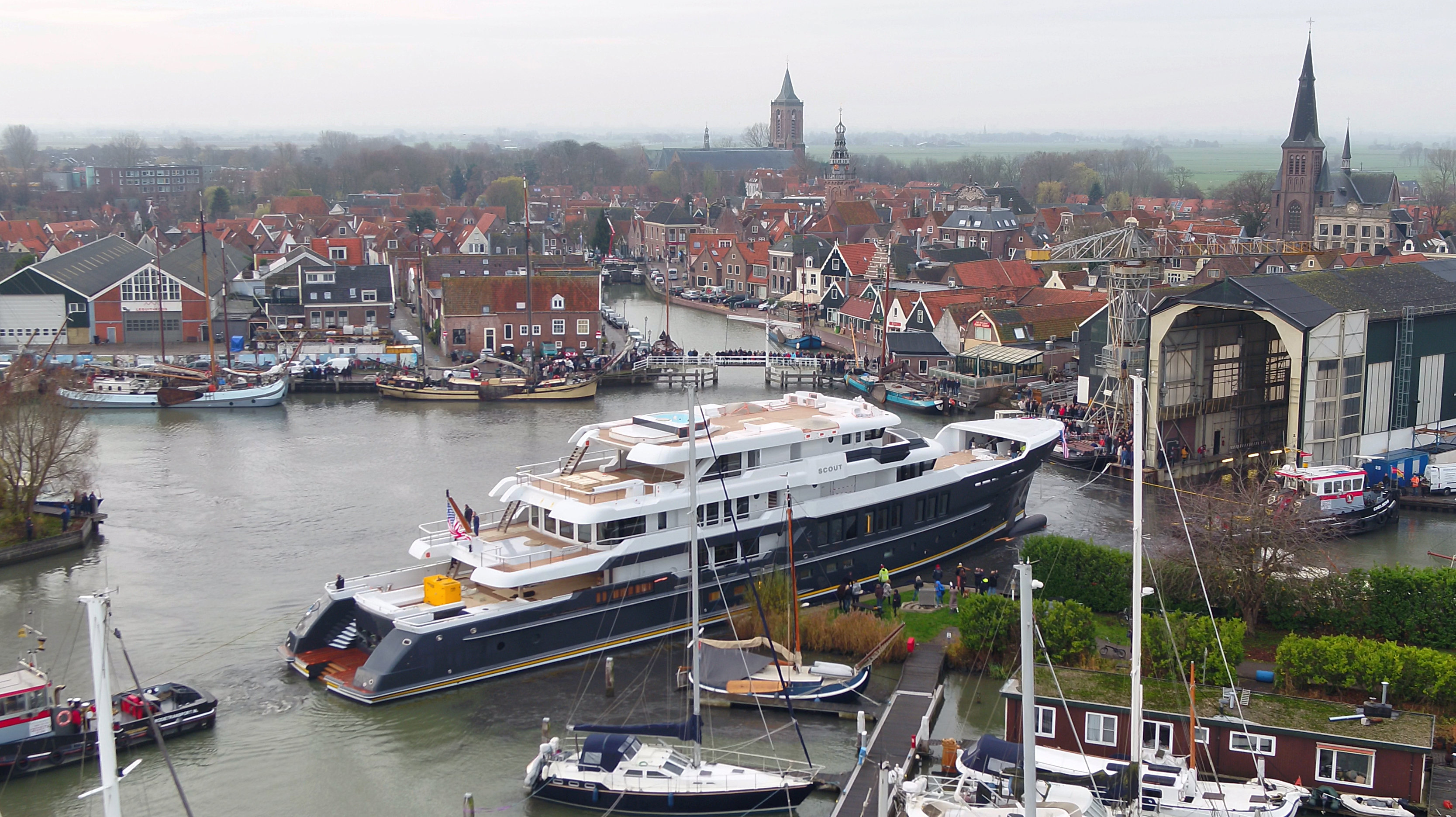 SCOUT - 63m superyacht launched at Hakvoort Shipyard in the Netherlands
