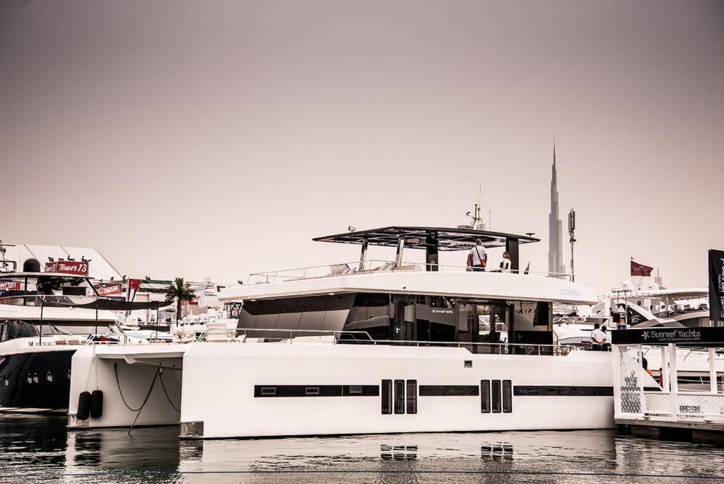 Yachts on display at the 2018 DIBS