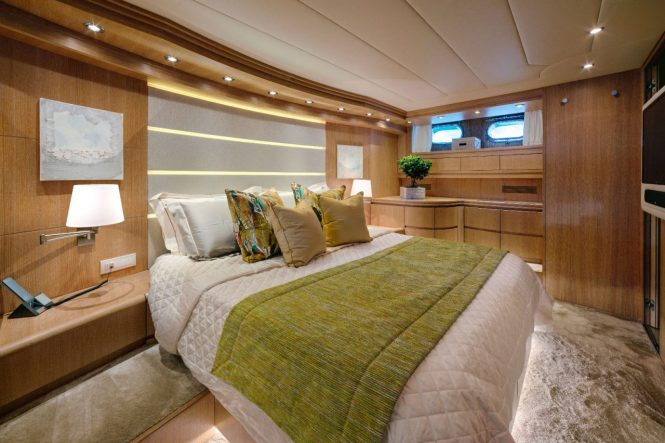 Master stateroom offering deluxe design
