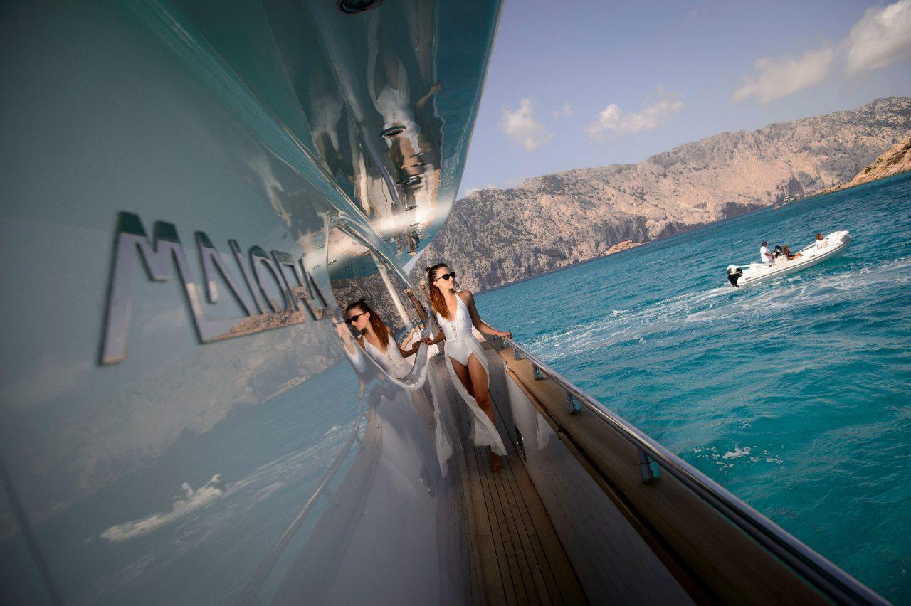 Aboard luxury yacht AMAYA