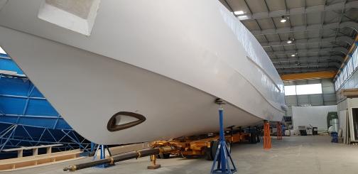 AMER 100 yacht under construction
