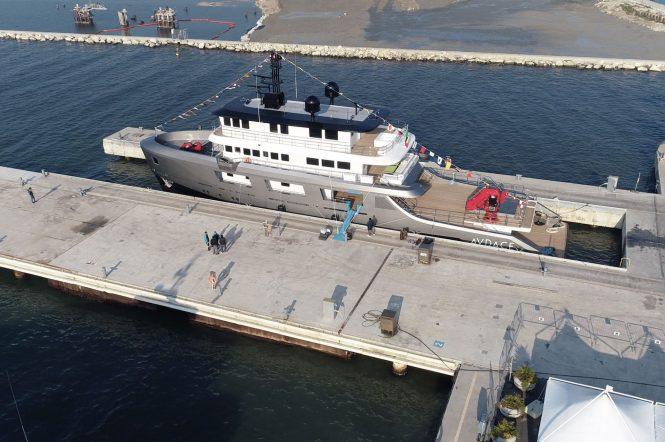 AUDACE hits water in Italy at CdM shipyard