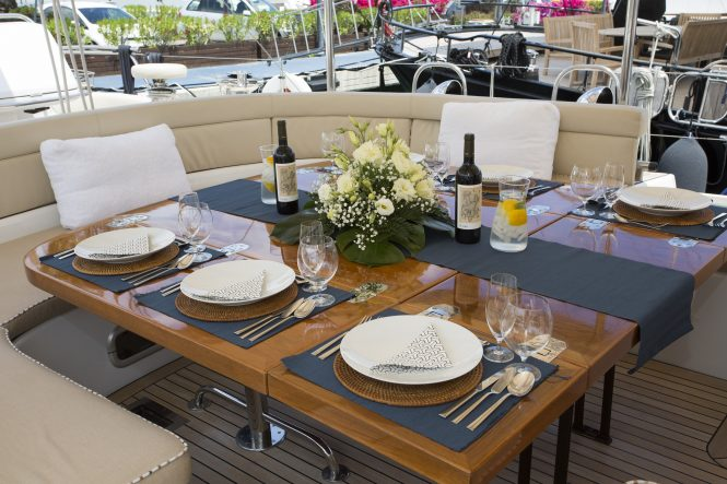 Alfresco dining experience on board