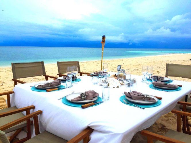 Beach set up