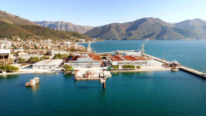 Bijela shipyard in Boka Bay in Montenegro