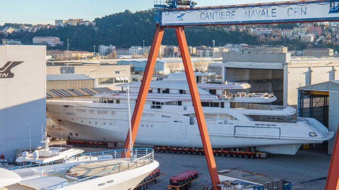 CNR 135 mega yacht