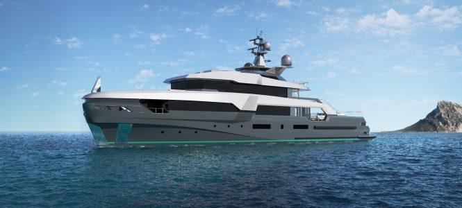 Exteriors of 'K47 TAXILA' yacht concept