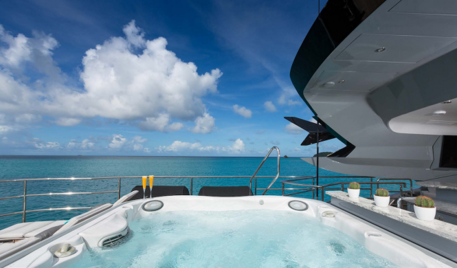 Fabulous Jacuzzi hot tub on board