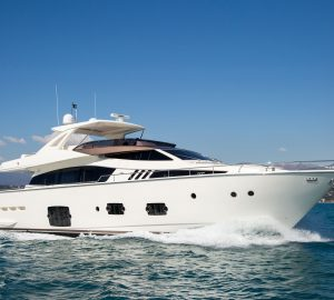 24m Ferretti motor yacht IGELE offering 10% off early summer charter bookings
