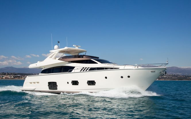 IGELE yacht by Ferretti yachts available in the South of France